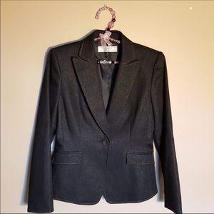 Tahari Arthur S. Levine black shimmer blazer 4